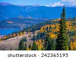 Dillon, Silverthorne Colorado Landscape. Fall in Colorado - stock photo
