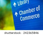 chamber of commerce blue city... | Shutterstock . vector #242365846