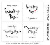 hand drawn greeting    vector   ... | Shutterstock .eps vector #242373112