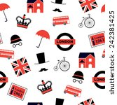 Red And Black  London Pattern