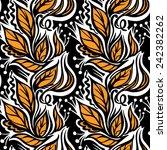 autumn leaves seamless pattern... | Shutterstock .eps vector #242382262