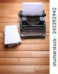 antique typewriter. vintage... | Shutterstock . vector #242392942