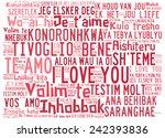 "love words ""i love you"" in... | Shutterstock . vector #242393836"