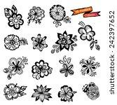 flowers vector doodle | Shutterstock .eps vector #242397652