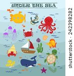 under the sea | Shutterstock .eps vector #242398282