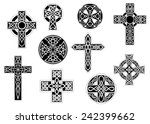 set of black and white vintage... | Shutterstock .eps vector #242399662