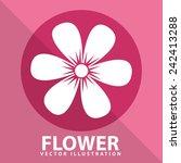 flower pink | Shutterstock .eps vector #242413288