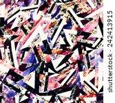 seamless textured grunge... | Shutterstock . vector #242413915