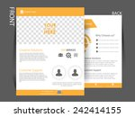 vector flyer  brochure ... | Shutterstock .eps vector #242414155