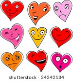emotional hearts | Shutterstock .eps vector #24242134