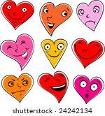 emotional hearts   Shutterstock .eps vector #24242134