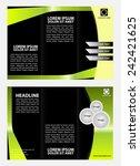 green black brochure tri fold... | Shutterstock .eps vector #242421625