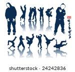 hip hop dancer vector graffiti