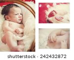 close up of baby's hands and... | Shutterstock . vector #242432872