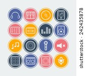 set of simple musical icons | Shutterstock .eps vector #242435878