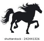 beautiful horse. silhouette. | Shutterstock .eps vector #242441326