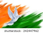 illustration of dove flying on... | Shutterstock .eps vector #242447962