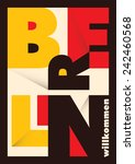 Berlin Poster With Typography....