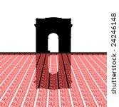arc de triomphe with paris text ... | Shutterstock .eps vector #24246148