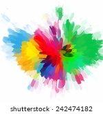 colorful flower brush strokes