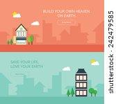 flat design concept for header... | Shutterstock .eps vector #242479585