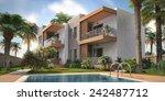 3d modern villa | Shutterstock . vector #242487712