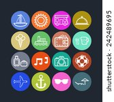 set of simple icons for... | Shutterstock .eps vector #242489695