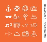 set of simple icons for... | Shutterstock .eps vector #242489698