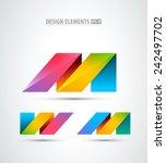 vector origami logo. design... | Shutterstock .eps vector #242497702