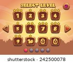 level selection screen. wooden...