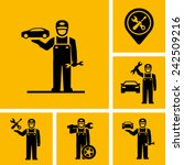 car mechanic vector icon figure ... | Shutterstock .eps vector #242509216
