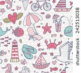 funny seamless pattern with...   Shutterstock .eps vector #242513038