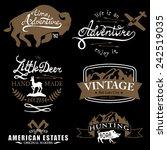 vintage badges | Shutterstock .eps vector #242519035