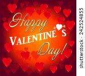 happy valentines day | Shutterstock .eps vector #242524855