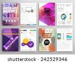 set of flyer  brochure design... | Shutterstock .eps vector #242529346