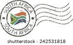 postal grunge stamp 'south... | Shutterstock .eps vector #242531818