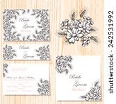 wedding invitation cards with... | Shutterstock .eps vector #242531992