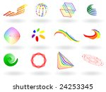 vector   collection of colorful ... | Shutterstock .eps vector #24253345