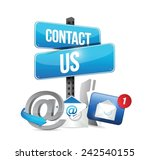 contact us communication icons... | Shutterstock .eps vector #242540155