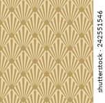 seamless pattern of gold... | Shutterstock .eps vector #242551546