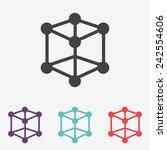 molecular compound vector icon
