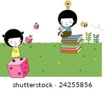 starting school | Shutterstock .eps vector #24255856