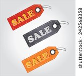 colorful sale tag labels for... | Shutterstock .eps vector #242568358