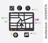 navigation infographic | Shutterstock . vector #242569576