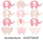 Stock vector elephants 242570635