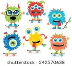 monsters on skates | Shutterstock .eps vector #242570638