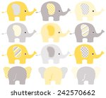 Stock vector elephants 242570662
