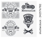 set of vintage motorcycle... | Shutterstock .eps vector #242576782