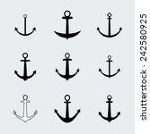 set anchors icons. vintage... | Shutterstock . vector #242580925