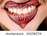 closeup of women's lips with... | Shutterstock . vector #24258274